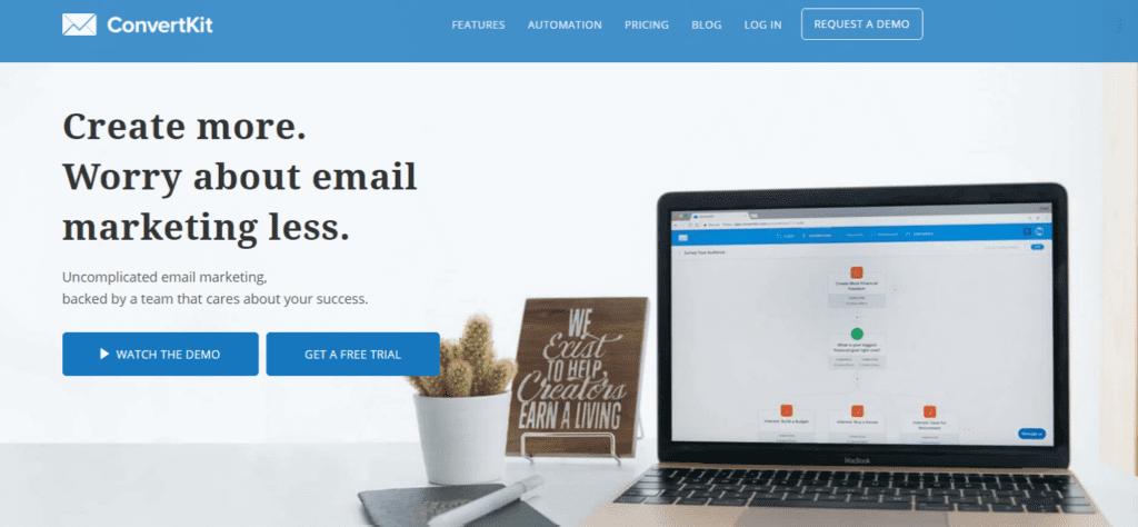 ConvertKit email blasting
