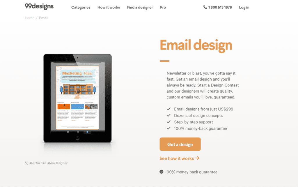 html email templates on 99designs