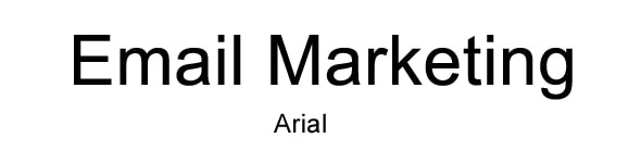 font for email arial