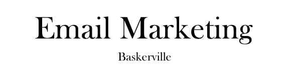 font for email baskerville