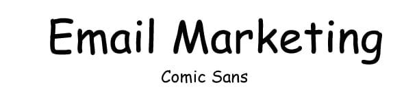 font for email comic sans