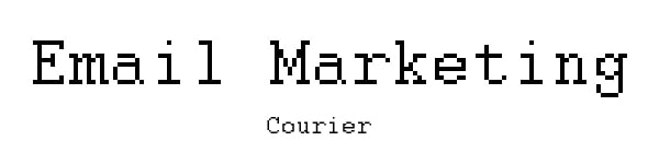 font for email courier