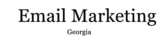 font for email georgia