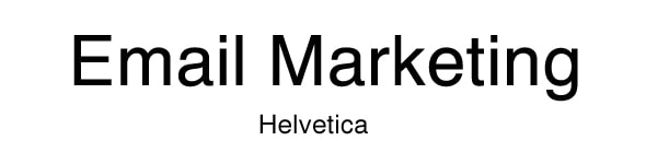 font for email helvetica