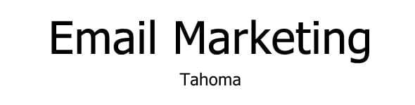 font for email tahoma