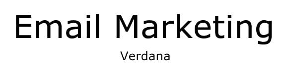 font for email verdana