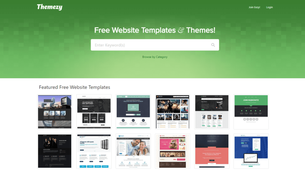 html email templates on Themezy